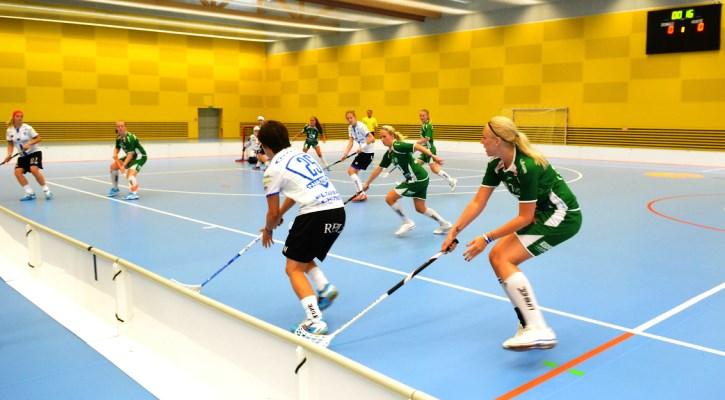 Sportovní hala Jedenáctka Chodov je velmi vhodná pro hraní florbalu.