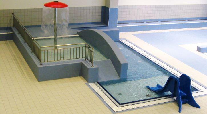 Brouzdaliště pro děti v bazénovém areálu Jedenáctka Chodov.