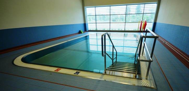 Jeden z malých samostatných bazénků Centra relaxačního a ozdravného plavání Jedenáctka VS